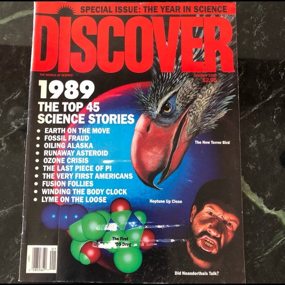 Jan. 1990 Discover (The World of Science) Magazine